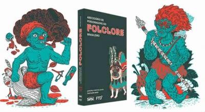 Ilustrações internas do livro Abecedário de Personagens do Folclore Brasileiro