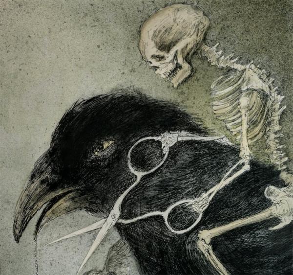 ilustrações de Alexandre Camanho para o livro Contos da meia noite no mundo