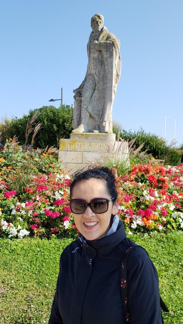 Estátua do escritor francês Chateubriand, em Saint Malo