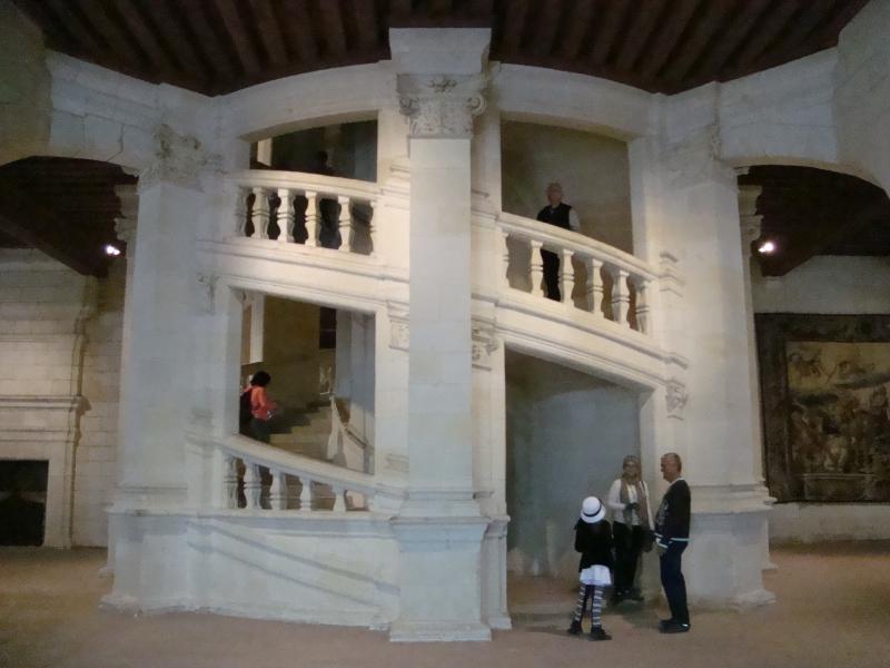 Escadas internas do Château de Chambord