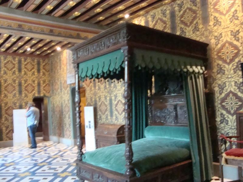 Em Blois vemos um dos quartos de Catarina de Medici no Vale do Loire