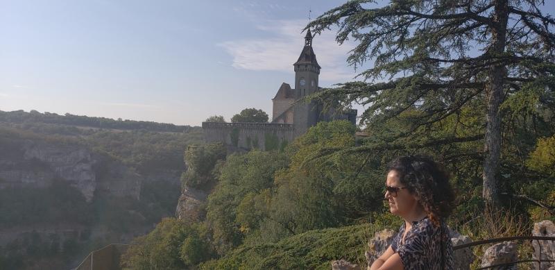 Vista do vale e o templo de Rocamadour