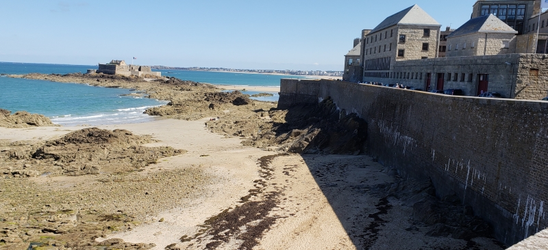 Vista da Muralha de Saint-Malo