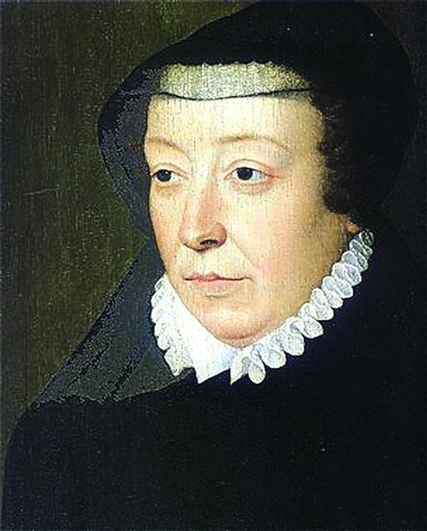 Retrato de Catarina de Médici pintado por François Clouet