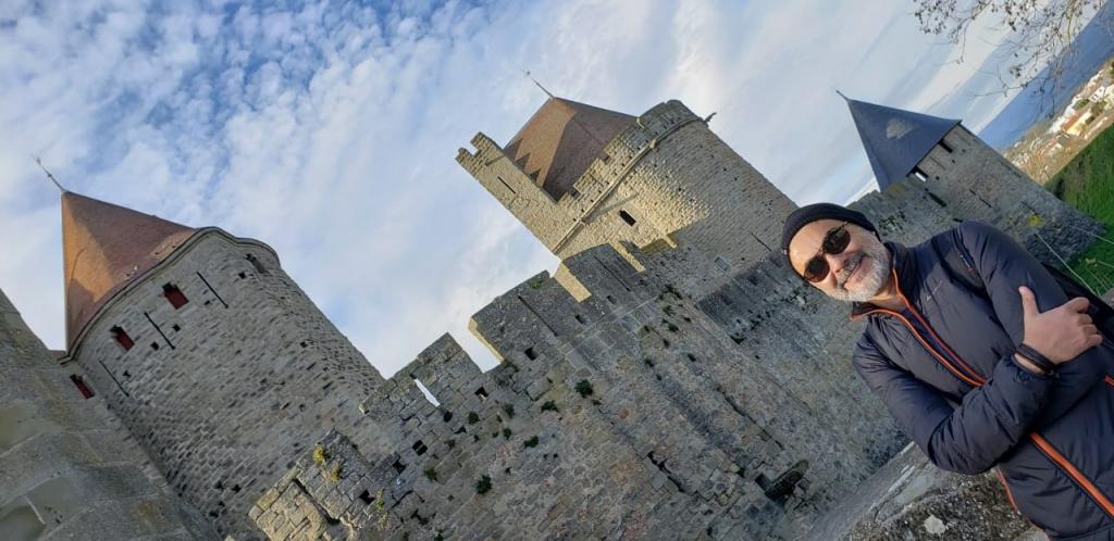 Muralhas na Cité medieval de Carcassonne