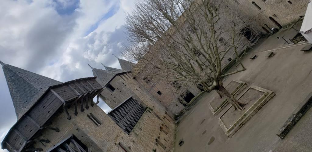 Pátio interno do Château Comtal
